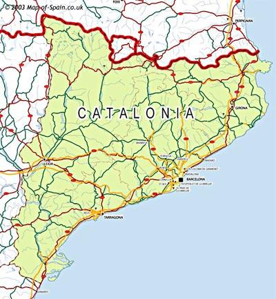 Map Of East Coast Of Spain.Barcelona On Whatamieating Com